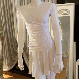 Anatomie little white fun flare dress